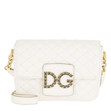 Dolce&Gabbana  Umhängetasche  -  DG Millennials Crossbody Bag Bianco  - in weiß  -  Umhängetasche für Damen weiss