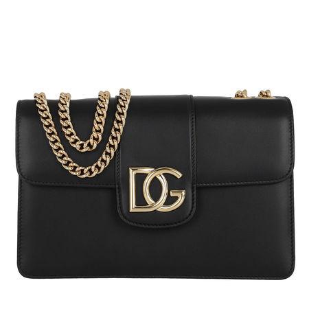 Dolce&Gabbana  Umhängetasche  -  DG Satchel Bag Leather Nero  - in schwarz  -  Umhängetasche für Damen schwarz