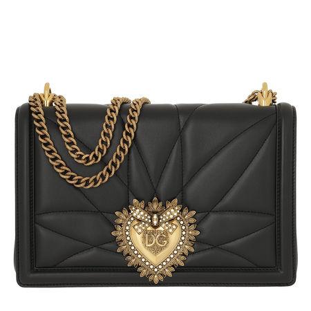 Dolce&Gabbana  Umhängetasche  -  LG Devotion Shoulder Bag Black  - in schwarz  -  Umhängetasche für Damen grau