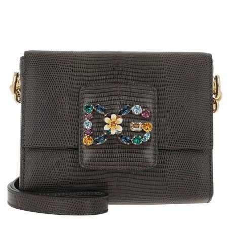 Dolce&Gabbana  Umhängetasche  -  Mini Bag Pelle St.Iguana Crossbody Grey  - in grau  -  Umhängetasche für Damen grau