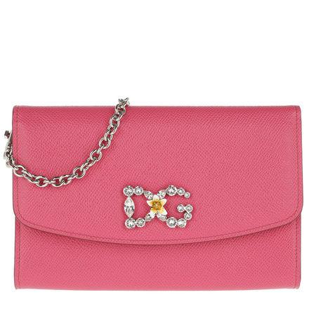 Dolce&Gabbana  Umhängetasche  -  St. Dauphine Logo Wallet Ciclamino  - in pink  -  Umhängetasche für Damen rot