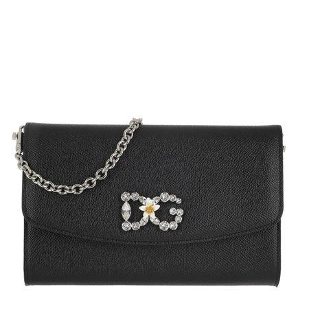 Dolce&Gabbana  Umhängetasche  -  St. Dauphine Logo Wallet Nero  - in schwarz  -  Umhängetasche für Damen grau