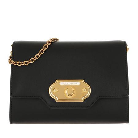 Dolce&Gabbana  Umhängetasche  -  Welcome Mini Bag Nero  - in schwarz  -  Umhängetasche für Damen schwarz