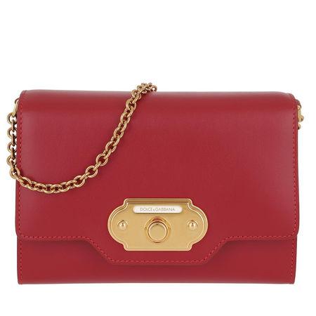 Dolce&Gabbana  Umhängetasche  -  Welcome Mini Bag Rosso Papavero  - in rot  -  Umhängetasche für Damen rot