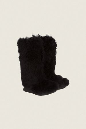 Dorothee Schumacher ARCTIC LUXE Curly Fur Moonboot 37 beige