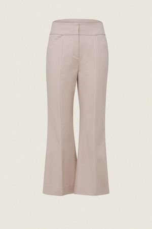 Dorothee Schumacher BOLD SILHOUETTE pants cropped flared 1 beige