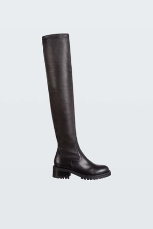 Dorothee Schumacher CHIC CONFESSION stretch nappa over the knee boot 37 grau
