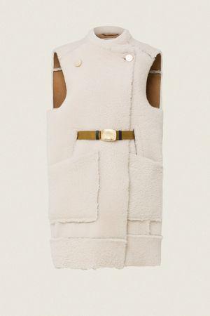 Dorothee Schumacher CURLY LAYER vest shearling 1 braun