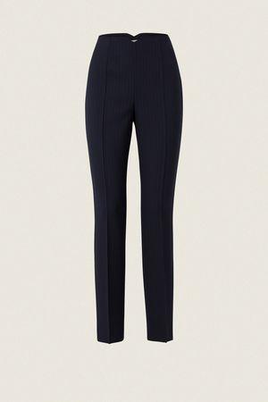 Dorothee Schumacher DISTINCTIVE STRIPES pants slim fit high waisted 1 beige