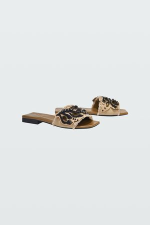 Dorothee Schumacher EMBROIDERED DREAMS canvas flat sandal 36