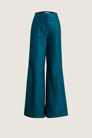 Dorothee Schumacher GLAMOROUS VELVET pants wide leg 1 beige