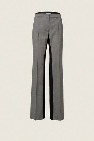 Dorothee Schumacher MINIMAL VICHY loose straight leg pants 0 beige