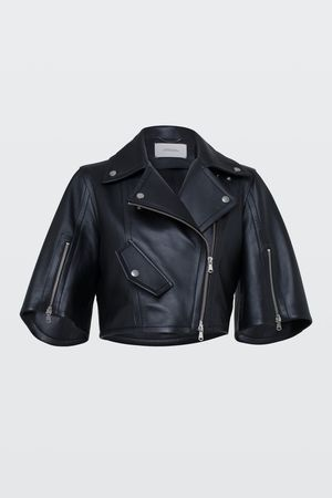 Dorothee Schumacher MODERN VOLUMES leather jacket 1 grau