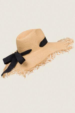 Dorothee Schumacher NATURAL ELEGANCE straw hat with ribbon beige