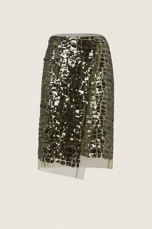 Dorothee Schumacher SEDUCTIVE LAYER pencil skirt 2 beige