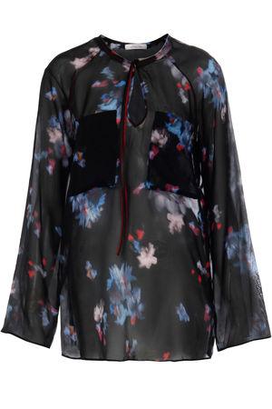 Dorothee Schumacher  Seidenbluse Night-Loving Flower Schwarz Damen Farbe: schwarz gemustert verfügbare Größe: 38|40|42 schwarz
