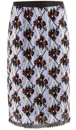 Dorothee Schumacher  - Seidenrock Flower Breeze mit Print blau