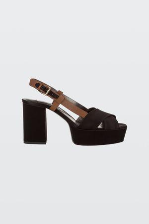 Dorothee Schumacher SHINY PERFECTION platform sandal 37 grau