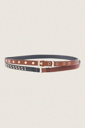 Dorothee Schumacher TREASURED EMOTION double wrap skinny belt (1.5 cm) 100 beige