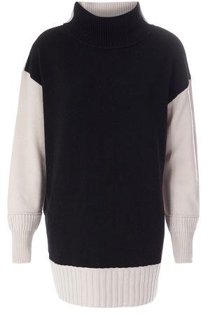Dorothee Schumacher  Two-Toned Pullover aus Schurwolle und Cashmere Damen Farbe: schwarzweiß verfügbare Größe: 34 36 38 schwarz