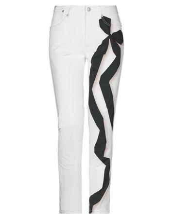 Dries van Noten  30 Damen Weiß Hose Baumwolle grau
