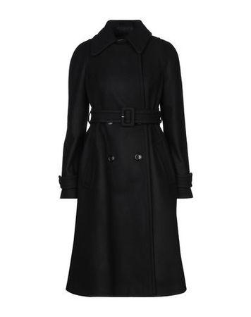 Dries van Noten  32 Damen Schwarz Mantel Wolle, Polyamid schwarz