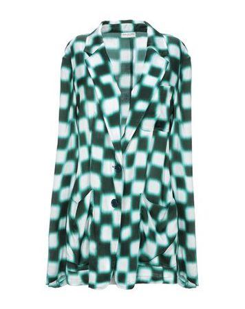 Dries van Noten  34 Damen Blau Jackett Viskose grau