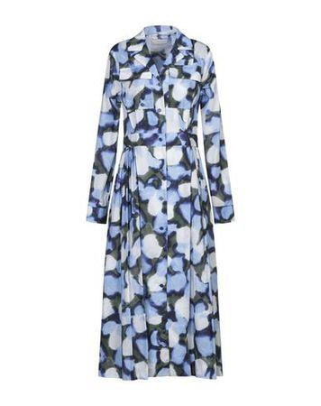 Dries van Noten  34 Damen Blau Midikleid Baumwolle blau