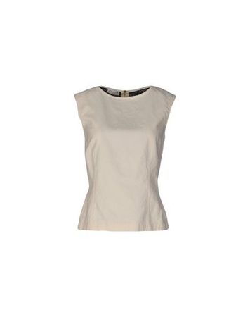 Dries van Noten  34 Damen Elfenbein Top Baumwolle, Papier braun