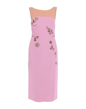 Dries van Noten  34 Damen Rosa Midikleid Viskose, Acetat rosa