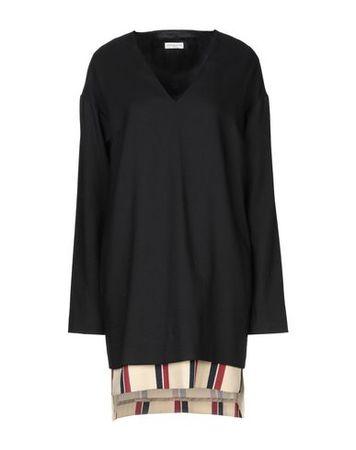 Dries van Noten  34 Damen Schwarz Kurzes Kleid Wolle, Mohairwolle, Polyamid schwarz
