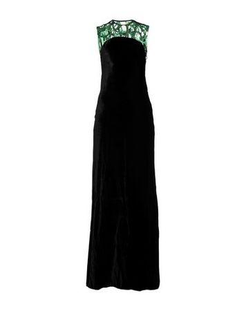Dries van Noten  34 Damen Schwarz Langes Kleid Polyester, Polyamid schwarz