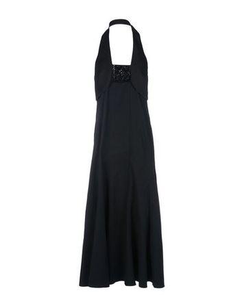 Dries van Noten  34 Damen Schwarz Langes Kleid Viskose, Elastan schwarz
