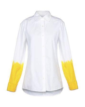 Dries van Noten  34 Damen Weiß  Hemd Baumwolle grau
