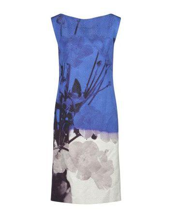 Dries van Noten  36 Damen Blau Knielanges Kleid Viskose, Baumwolle, Polyester, Polyamid blau