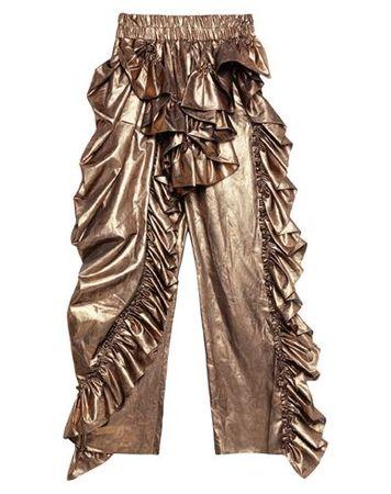 Dries van Noten  36 Damen Gold Hose Seide, Polyester