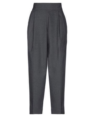 Dries van Noten  36 Damen Grau Hose Baumwolle, Wolle, Elastan