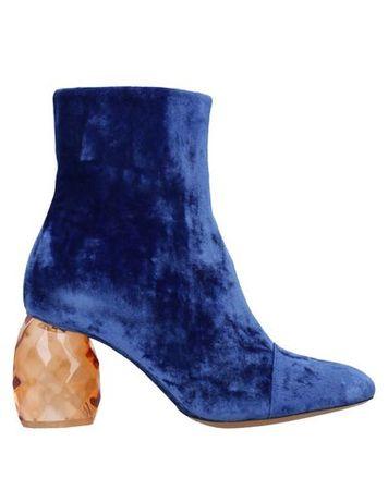 Dries van Noten  36 Damen Königsblau Stiefelette Gewebefasern blau