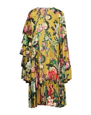 Dries van Noten  36 Damen Ocker Knielanges Kleid Viskose