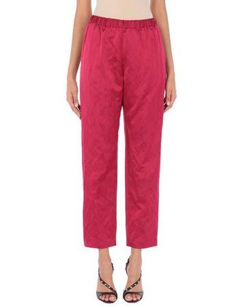 Dries van Noten  36 Damen Purpur Hose Viskose, Baumwolle, Metallfaser pink