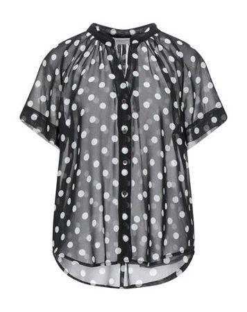 Dries van Noten  36 Damen Schwarz  Hemd Polyester grau
