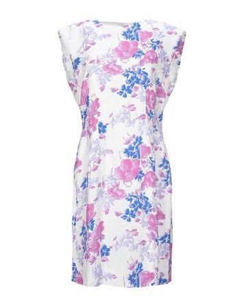 Dries van Noten  36 Damen Weiß Kurzes Kleid Viskose lila