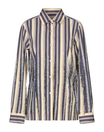 Dries van Noten  38 Damen Beige  Hemd Baumwolle grau