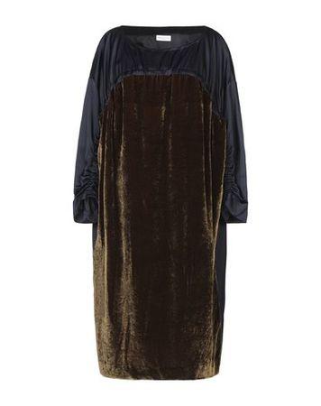 Dries van Noten  38 Damen Dunkelblau Kurzes Kleid Viskose, Baumwolle schwarz