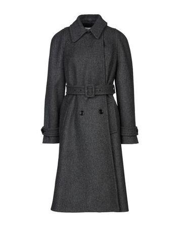 Dries van Noten  38 Damen Granitgrau Mantel Wolle