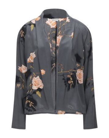 Dries van Noten  38 Damen Grau Jackett Seide grau