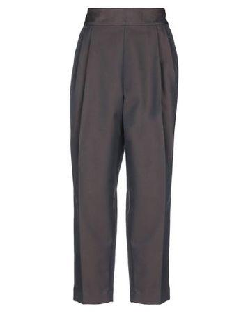 Dries van Noten  38 Damen Mittelbraun Hose Baumwolle, Polyester grau