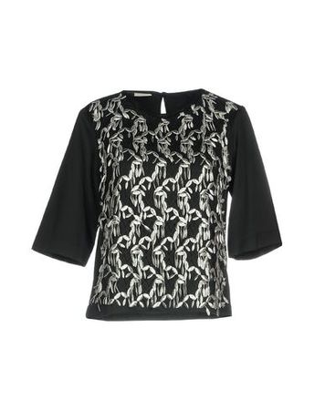 Dries van Noten  38 Damen Schwarz Bluse Polyamid, Polyester schwarz