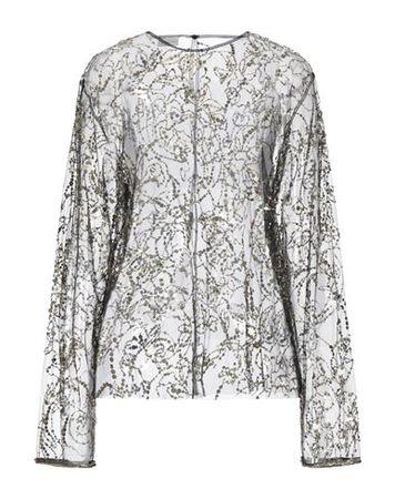 Dries van Noten  38 Damen Schwarz Bluse Polyester grau