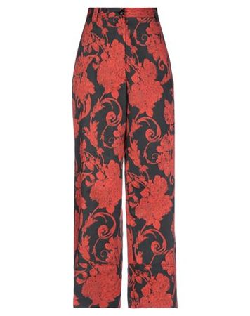 Dries van Noten  38 Damen Schwarz Hose Baumwolle rot